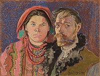 Self-Portrait with Wife at the Window, 1904