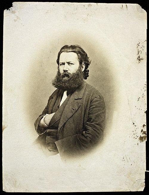 Portrett av Henrik Ibsen ca. 1863-64, tilhører Nasjonalbiblioteket.