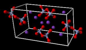 Potassium dichromate - Image: Potassium dichromate unit cell 3D balls