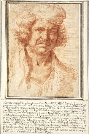The Four Seasons (Poussin) - Self-portrait of Nicolas Poussin from 1630, while recovering from a serious illness, British Museum
