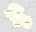Powiat górowski - mapa z nazwami gmin.png