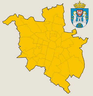 Administrative division of Poznań - The 42 osiedles of Poznań as of 2011.