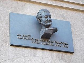 Leoš Janáček memorial plaque