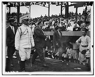 1912 in baseball - U.S. president Taft at a Washington-Chicago game, August 13