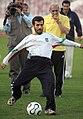 President Mahmoud Ahmadinejad, Iran's national football (soccer) team - 28 February 2006 (17 8412090596 L600).jpg