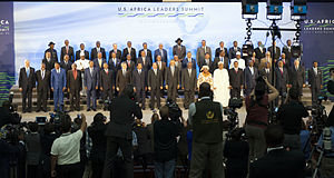 United States–Africa Leaders Summit - President Obama participates in a family photo with African leaders.