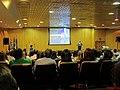 Primeiro astronauta brasileiro, o bauruense Marcos Cesar Pontes dando uma palestra no Centro de Convenções de Ribeirão Preto, localizado na rua Bernardino de Campos 999, no centro de Ribeirão Preto. - panoramio.jpg