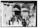 Prince Eitel Friedrich & wife leaving Church of Holy Sepulchre, Jerusalem LCCN2014688079.jpg