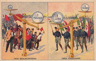 1924 Italian general election - Postcard promoted by the Fascist propaganda