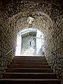 Provins (77), tour César, escalier d'accès vers la salle des gardes 1.jpg