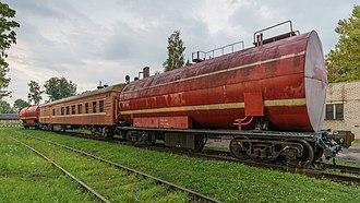 Tank car - Tank car on a Russian fire train.