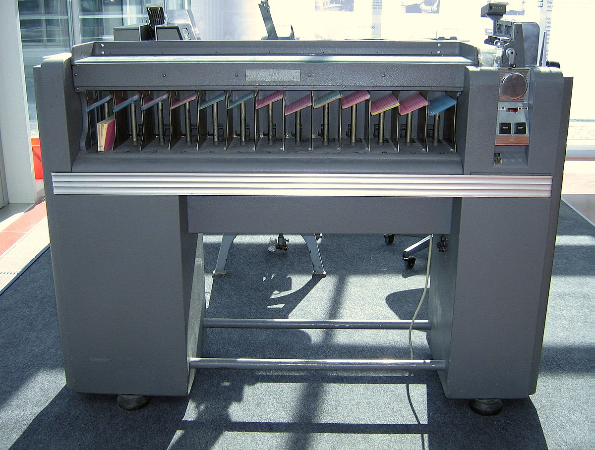card sorting machine