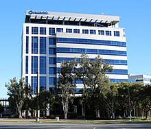 Modern five-story office building