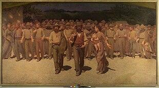 Il quarto Stato di Pellizza da Volpedo una delle opere più note nell'esposizione.