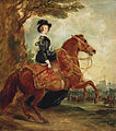 Queen Victoria on horseback - Grant 1845.jpg