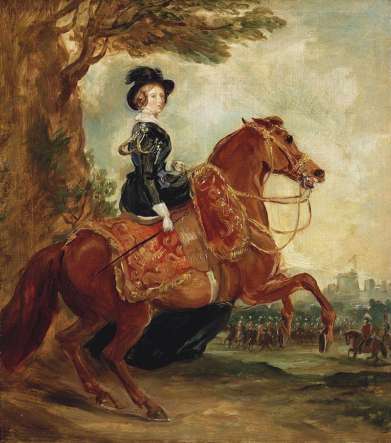 Queen Victoria on horseback - Grant 1845.jpg
