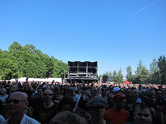 Sauna Open Air Metal Festival - The audience during a Queensrÿche concert at the 2011 Sauna Open Air.