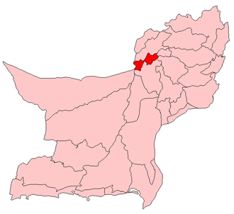 2003 Quetta mosque bombing - Map of Quetta