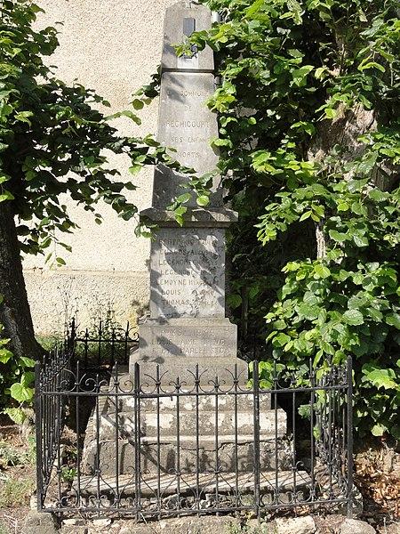Réchicourt (Spincourt, Meuse) monument aux morts