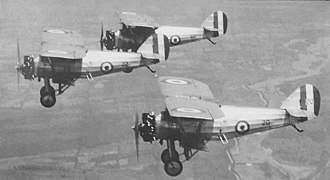 "Armstrong Whitworth Siskin - ""The Siskins"" flight demonstration team"