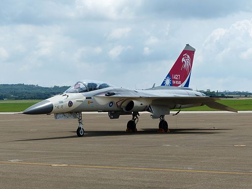 ROCAF F-CK-1A 1427 Demo Aircraft on Apron after Demonstration Flight 20140719b