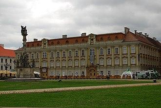 Timiș-Torontal County - The Timiș-Torontal Prefecture building from the interwar period, now the Timișoara Art Museum.