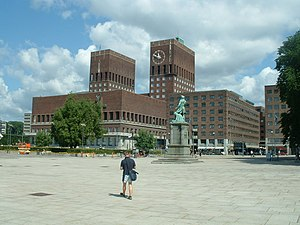 Oslo bid for the 2018 Winter Olympics - Rådhusplassen, with the Oslo City Hall in the background, was proposed as the venue for the opening, closing and medal ceremonies.