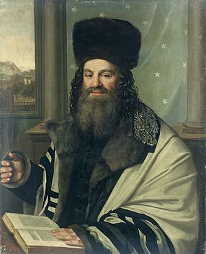 Solomon Judah Loeb Rapoport - Portrait of Rabbi Rapoport by  Antonin Machek