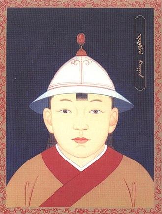Ragibagh Khan - A modern portrait of Ragibagh Khan (Emperor Tianshun)