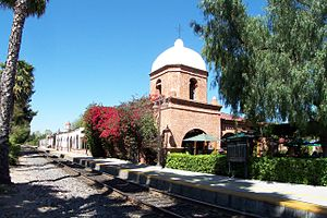 The former Santa Fe Railway Depot in San Juan ...