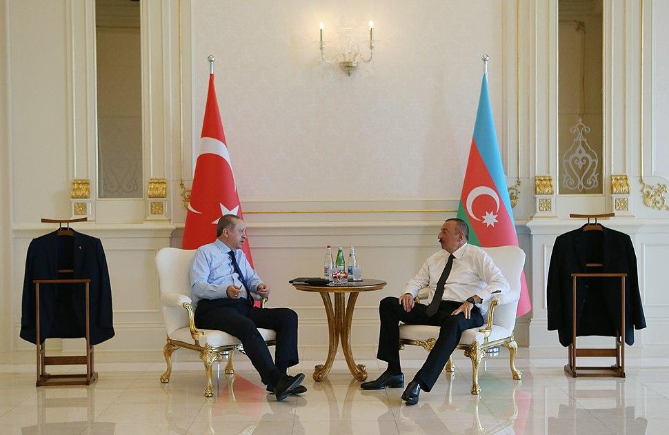 Recep Tayyip Erdoğan meet with Ilham Aliyev