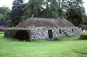 Blackhouse - Reconstructed blackhouse, Highland Folk Museum
