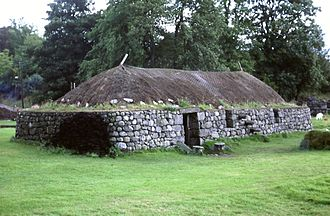 Blackhouse - Reconstructed blackhouse, Highland Folk Museum