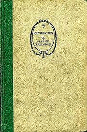 Cover of Recreation by Grey of Falloden, 1920, Houghton Mifflin Company