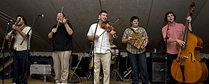 Red Stick Ramblers performing April 20, 2008, during the Dewey Balfa Cajun and Creole Heritage Week at Chicot State Park.