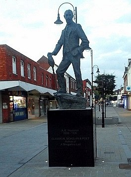 Refurbished A. E. Housman statue Sept 2015