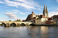 Altstadt von Regensburg mit Stadtamhof