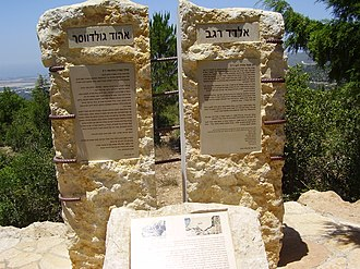 2006 Hezbollah cross-border raid - A monument in the Adamit Park, in memory of two of the victims in the attack – Eldad Regev and Ehud Goldwasser