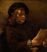 Rembrandt Harmenszoon van Rijn - Titus van Rijn, the Artist's Son, Reading - Google Art Project.jpg