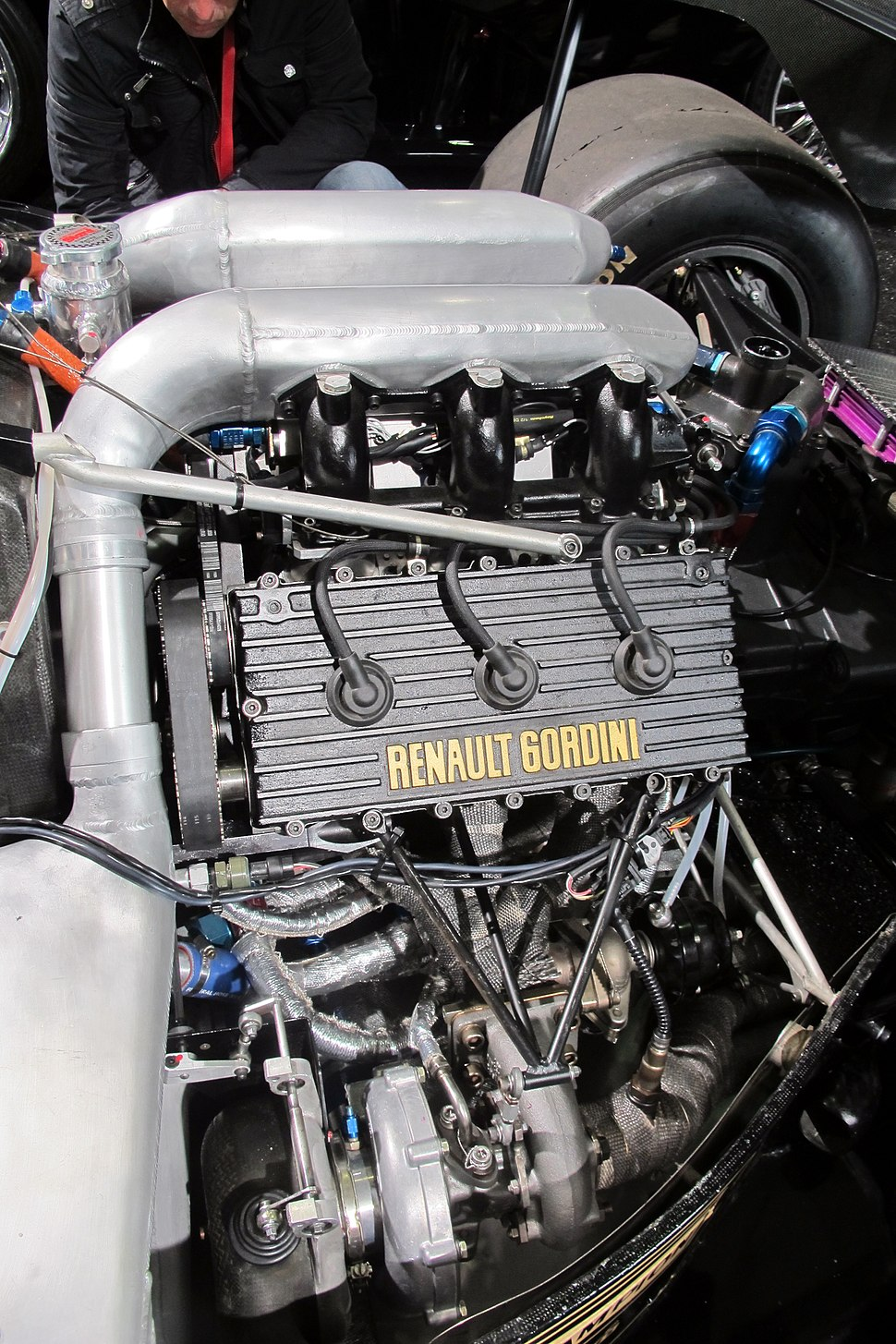 Renault F1 turbo engine in a Lotus 95T John Player Special