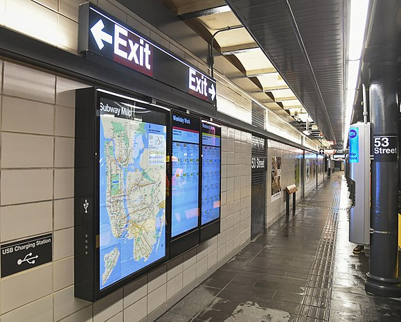 Technology of the new york city subway wikiwand 53rd street an enhanced subway station fandeluxe Images