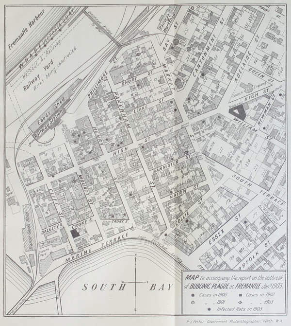 A map of the West End of Frematle in 1903.