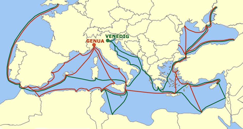 Republik Venedig Handelswege01