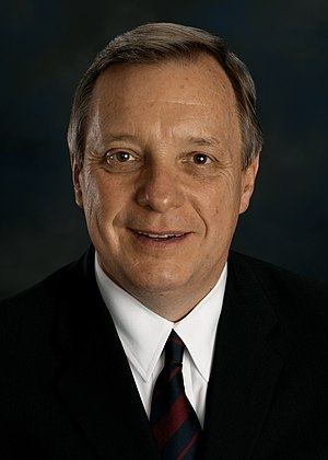 Party leaders of the United States Senate - Minority Whip Dick Durbin (D)