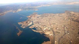 Richmond Ferry Terminal - Image: Richmond California aerial