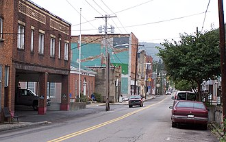 National Register of Historic Places listings in Nicholas County, West Virginia - Image: Richwood Downtown WV