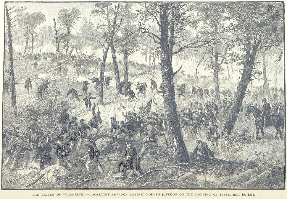Rickett's advance against Rodes's division