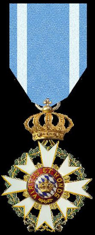 Order of Merit of the Bavarian Crown - Image: Ridder in de Orde van Verdienste van de Beierse Kroon