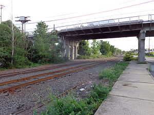 Northern Branch Corridor Project - Site of the proposed Ridgefield station looking south at the Northern Branch tracks