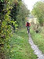 Riding down the path - geograph.org.uk - 1568260.jpg